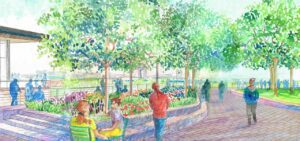 Rendering of the eastern overlook at the Smale Expansion at Lot 23